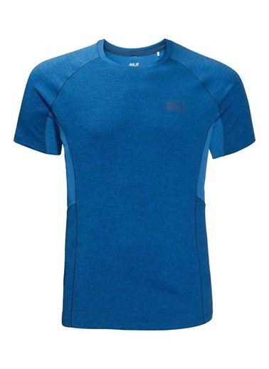 Jack Wolfskin Hydropore Xt Vent Erkek T-Shirt - 1806121-1062 Mavi